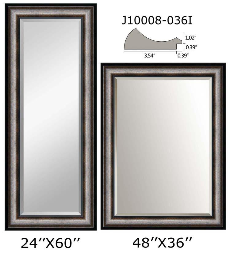 Moderno 36 X 48 Espejo Enmarcado Composición - Ideas Personalizadas ...